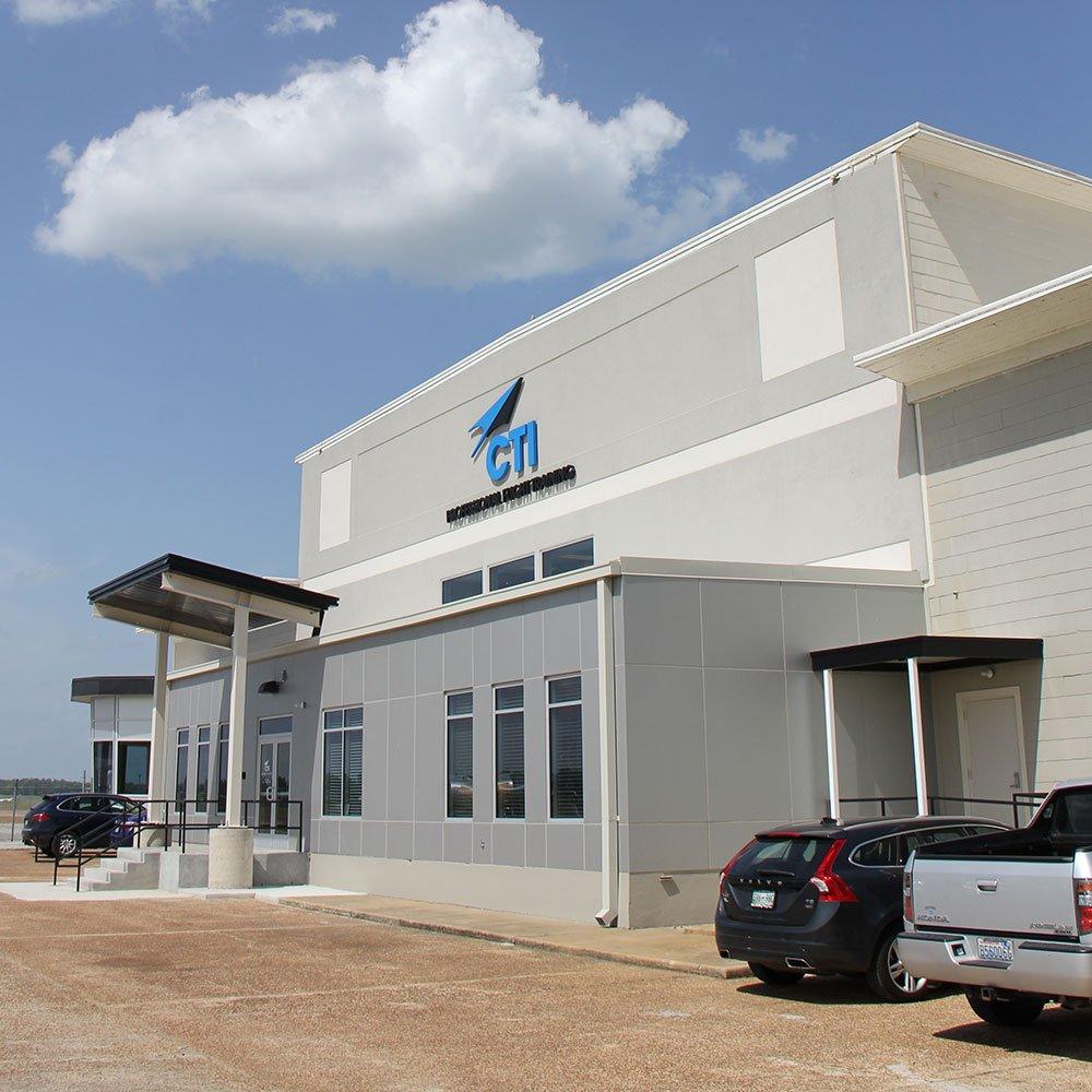 Image of the CTI building entrance at Memphis Millington Airport