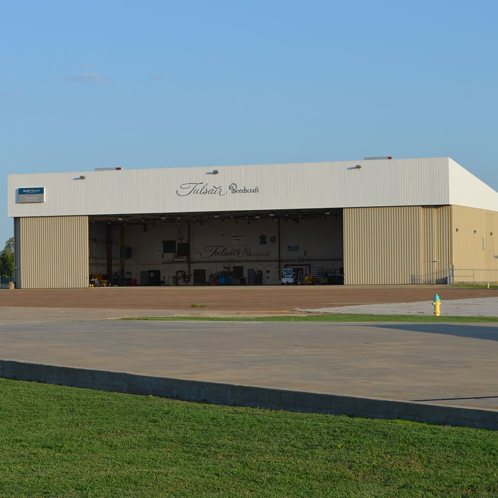 Image of Tulsair hangar with link to their website